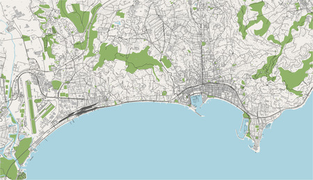 vector map of the city of Cannes, France 일러스트