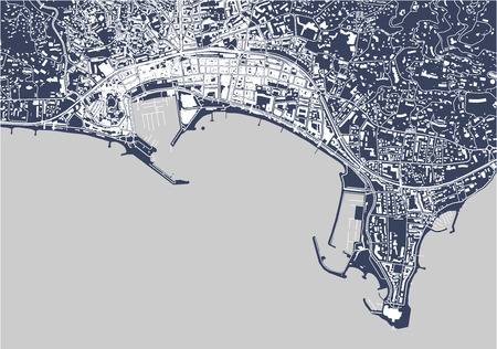map of the city of Cannes, France