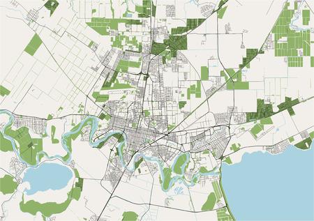 vector map of the city of Krasnodar, Russia
