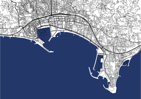vector map of the city of Cannes, France  イラスト・ベクター素材