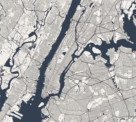 vector map of the New York City NY, USA Illustration