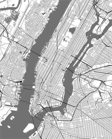 vector map of the New York City NY, USA Illusztráció