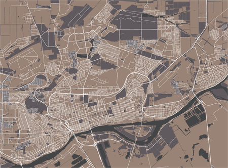 vector map of the city of Rostov-on-Don, Russia
