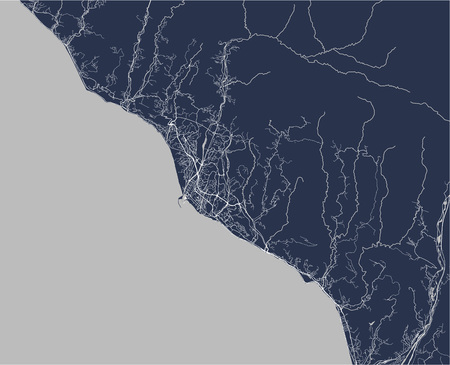 vector map of the city of Sochi, Russia