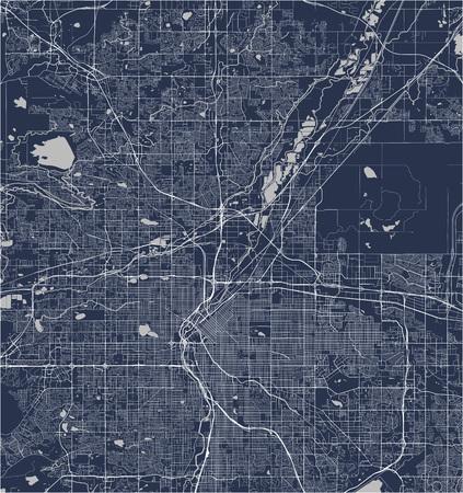 vector map of the city of Denver, Colorado, USA Illustration