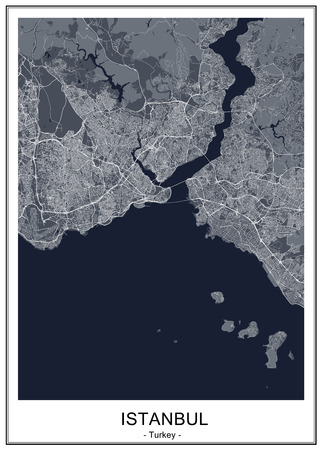map of the city of Istanbul, Turkey