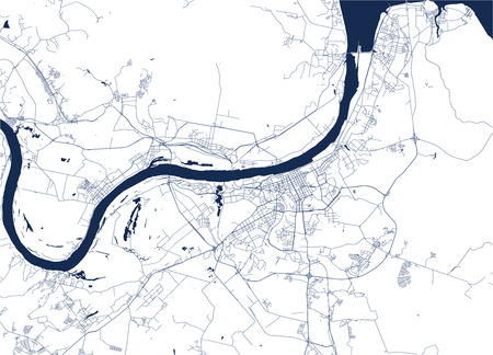 vector map of the city of Perm, Russia Illustration