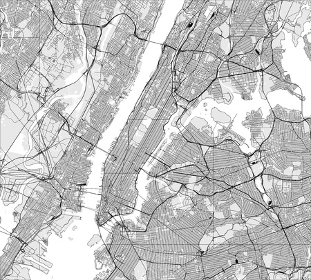 vector map of the New York City NY, USA