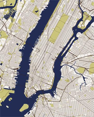vector map of the New York City NY, USA Illustration