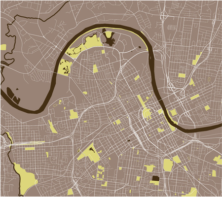 vector map of the city of Nashville, Tennessee, USA Illustration