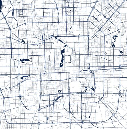 map of the city of Beijing, China