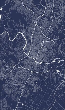 map of the city of Austin, Texas, USA