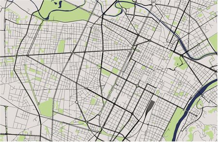 map of the city of Torino, Turin, Italy