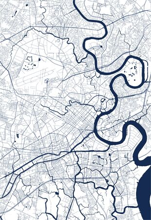 vector map of the city of Ho Chi Minh City, Vietnam