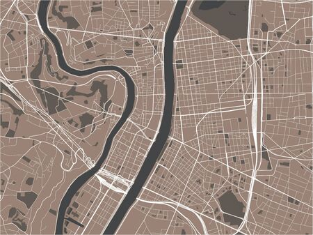 vector map of the city of Lyon, France