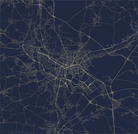 vector map of the city of Nuremberg, Germany