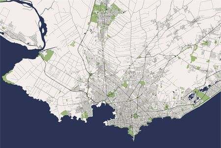 vector map of the city of Montevideo, Uruguay, South America