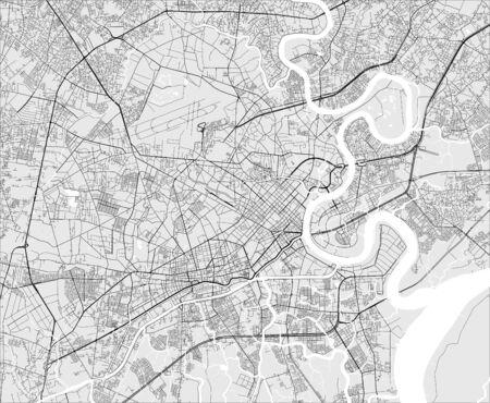 map of the city of Ho Chi Minh City, Vietnam Illustration
