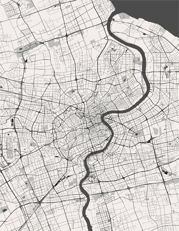 map of the city of Shanghai, China