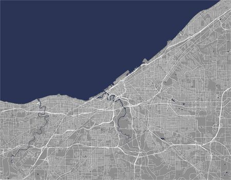 vector map of the city of Cleveland, Ohio, USA Illustration