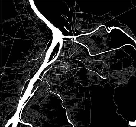 vector map of the city of Astrakhan, Russia Ilustrace