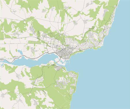 vector map of the city of Varna, Bulgaria Illustration
