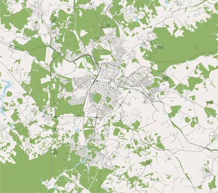 vector map of the city of Tula, Russia