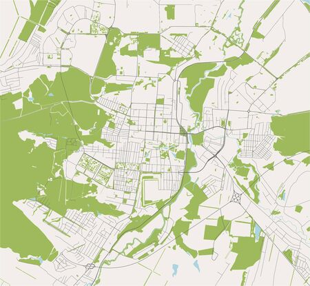 vector map of the city of Saransk, Russia Ilustrace