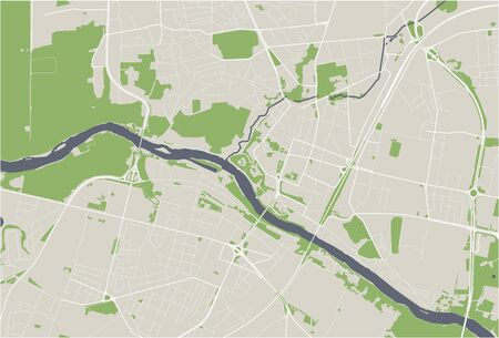 vector map of the city of Grodno, Belarus