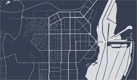 vector map of the city of Magnitogorsk, Russia Ilustrace