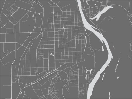 vector map of the city of Kirov, Russia