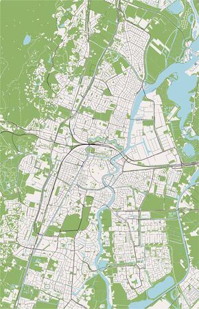 vector map of the city of Haarlem, Netherlands