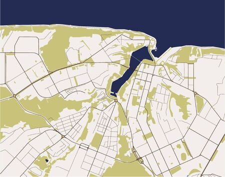 vector map of the city of Cheboksary, Russia Ilustrace