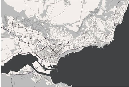 vector map of the city of Varna, Bulgaria Ilustrace