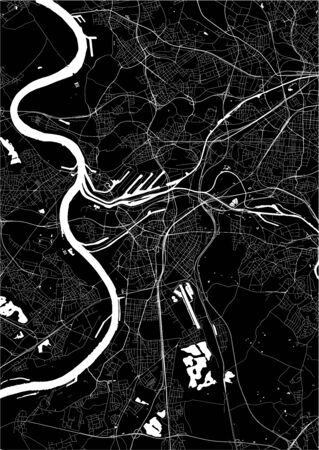 vector map of the city of Duisburg, Germany
