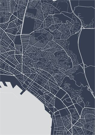 vector map of the city of Thessaloniki, Greece Illustration