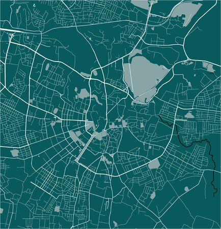 vector map of the city of Samarkand, Uzbekistan Çizim