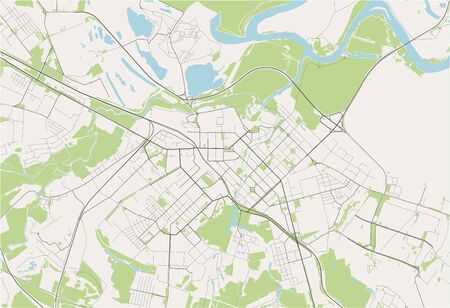 vector map of the city of Ryazan, Russia