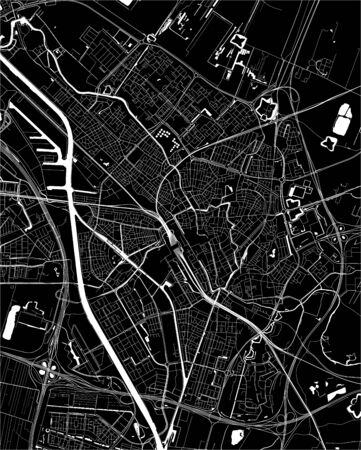 vector map of the city of Utrecht, Netherlands