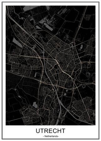 vector map of the city of Utrecht, Netherlands