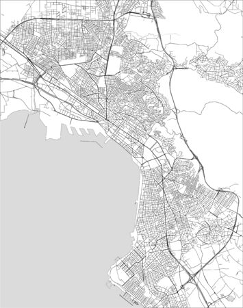 vector map of the city of Thessaloniki, Greece 矢量图像