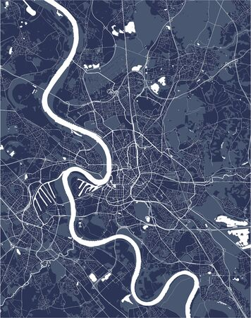 vector map of the city of Dusseldorf, Germany