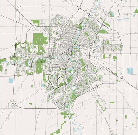 vector map of the city of Winnipeg, Canada