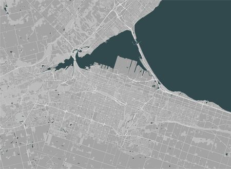 map of the city of Hamilton, Canada 版權商用圖片 - 133936156
