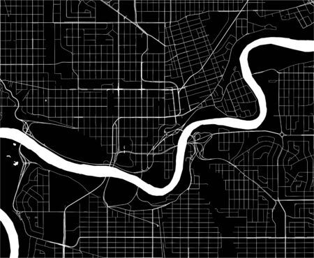 map of the city of Edmonton, Canada