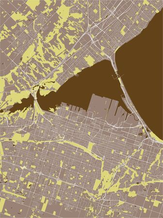 map of the city of Hamilton, Canada 版權商用圖片 - 133936169