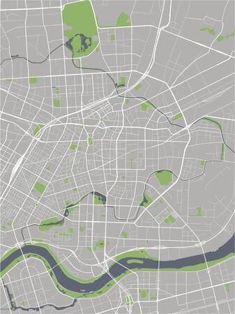 mappa vettoriale della città di Shenyang, Cina