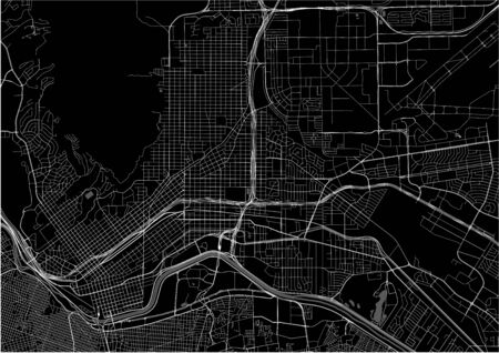 vector map of the city of El Paso, Texas, USA Illustration