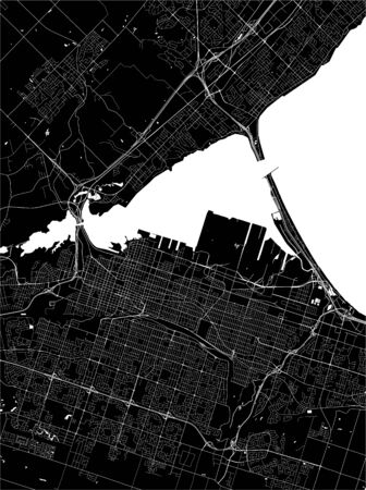 vector map of the city of Hamilton, Canada 向量圖像