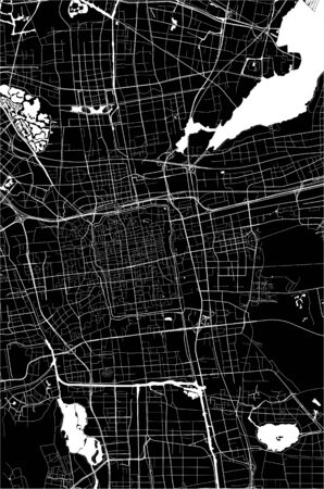 vector map of the city of Suzhou, China